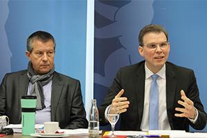 Christian Goiny, haushaltspolitischer Sprecher der CDU-Fraktion Berlin und Florian Graf, Fraktionsvorsitzender