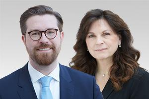 Katrin Vogel, frauenpolitische Sprecherin der CDU-Fraktion Berlin, und Sven Rissmann, rechtspolitischer Sprecher der CDU-Fraktion Berlin