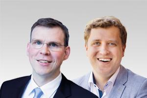 Florian Graf, Vorsitzender der CDU-Fraktion Berlin, und Gottfried Ludewig, gesundheitspolitischer Sprecher der CDU-Fraktion Berlin
