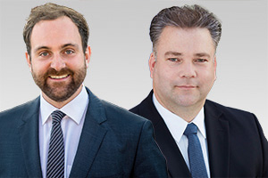Stephan Standfuß, sportpolitischer Sprecher der CDU-Fraktion Berlin, und Tim-Christopher Zeelen, Leiter des Arbeitskreises Sport der CDU-Fraktion Berlin