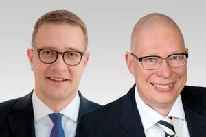 Dr. Robbin Juhnke, kulturpolitischer Sprecher der CDU-Fraktion und Adrian Grasse, Abgeordneter des Wahlkreises Dahlem und Zehlendorf