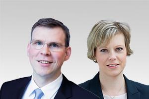 Florian Graf, Fraktionsvorsitzender der CDU-Fraktion Berlin, und Cornelia Seibeld, integrationspolitische Sprecherin der CDU-Fraktion Berlin