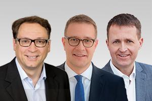 Dr. Christian Hausmann, wissenschaftspol. Sprecher, Adrian Grasse, forschungspol. Sprecher, und Oliver Friederici, Wahlkreisabgeordneter der CDU-Fraktion Berlin