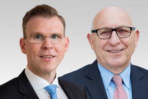 Florian Graf, Vorsitzender der CDU-Fraktion Berlin, und Kurt Wansner, Wahlkreisabgeordneter der CDU-Fraktion Berlin