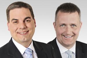 Heiko Melzer, Parl. Geschäftsführer und Oliver Friederici, verkehrspol. Sprecher der CDU-Fraktion Berlin