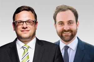 Stephan Schmidt, bezirkspolitischer Sprecher und Wahlkreisabgeordneter aus Tegel, und Tim-Christopher Zeelen, Wahlkreisabgeordneter aus Reinickendorf