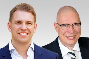 Danny Freymark, parlamentarischer Geschäftsführer, und Robbin Juhnke, kulturpolitischer Sprecher der CDU-Fraktion Berlin