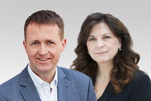 Oliver Friederici, verkehrspolitischer Sprecher der CDU-Fraktion Berlin und Katrin Vogel, Wahlkreisabgeordnete aus Treptow-Köpenick