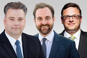 Stephan Standfuß, sportpolitischer Sprecher, und Tim-Christopher Zeelen und Stephan Schmidt, Abgeordnete der CDU-Fraktion Berlin aus Reinickendorf