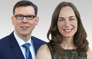 Florian Graf, Vorsitzender der CDU-Fraktion und Hildegard Bentele, schulpolitische Sprecherin