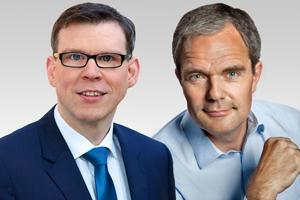 Florian Graf, Vorsitzender der CDU-Fraktion und Burkard Dregger, Innenexperte der CDU-Fraktion