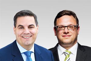 Heiko Melzer, 1. Parl. Geschäftsführer und finanzpol. Sprecher, und Stephan Schmidt, bezirkspol. Sprecher