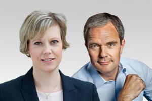 Burkard Dregger, innenpol. Sprecher und Cornelia Seibeld, integrationspol. Sprecherin