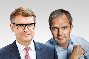 Burkard Dregger, innenpol. Sprecher, und Stephan Lenz, verfassungsschutzpol. Sprecher