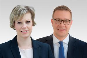 Cornelia Seibeld, kirchenpol. Sprecherin, und Adrian Grasse, forschungspol. Sprecher