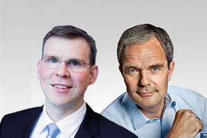 Florian Graf, Vorsitzender der CDU-Fraktion, und Burkard Dregger, innenpolitischer Sprecher